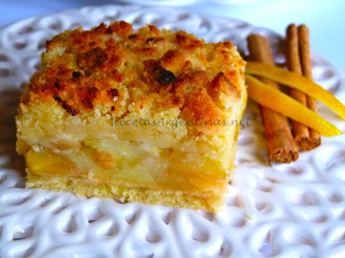 Tarta de manzanas con crumble