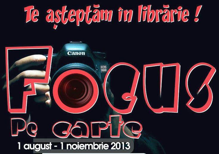 Ești pasionat de fotografie? Participă la concurs! Dragi prieteni ai cărților și fotografiei, în  perioada 1 august – 1 noiembrie 2013, Editura Herald organizează concursul online Focus pe Carte.  http://www.teasteptaminlibrarie.ro/focus-pe-carte