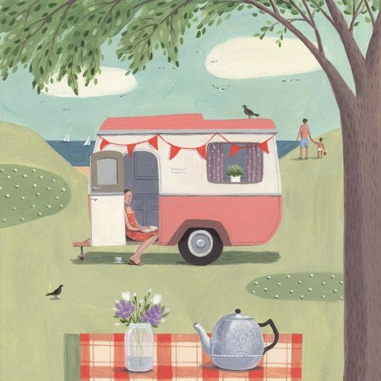 Lovely Caravan Art Vintage Caravans Camper Retro Campers