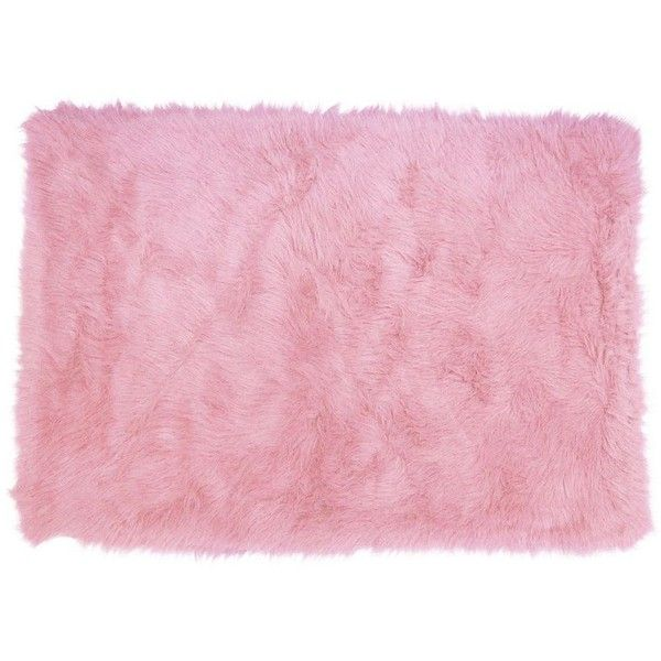 Fun Rugs Flokati Solid Shag Rug ($120) ❤ liked on Polyvore featuring home, rugs, pink, woven rugs, pink shag rug, woven area rugs, shag pile rugs and patterned rugs