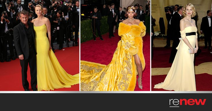Yellow is the colour of happiness and optimism, which is why it's one of our favourite colours on the red carpet this year! Look how gorgeous these stars look in yellow:  Which gorgeous gown would you love to wear? #Style  1) Charlize Theron  2) Rihanna 4) Naomi Watts