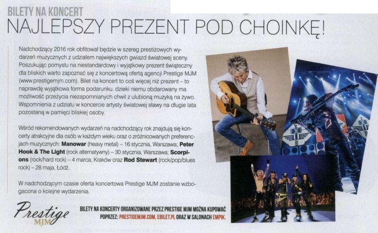 Bilet na #koncert to świetny #prezent na #Mikołajki!   #RodStewart #Manowar #Scorpions #PeterHook