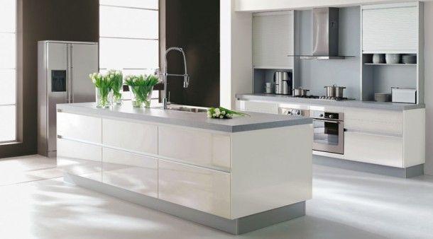 Mooie keukens | Keukeneiland met spoelgedeelte.
