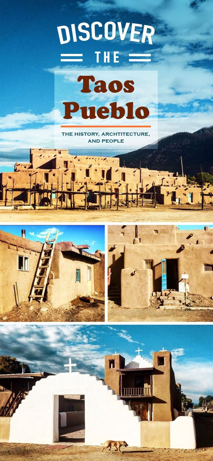 Taos New Mexico downtown has a lot to explore, but best of all is the historic Taos Pueblo, the oldest city and buildings in the USA.