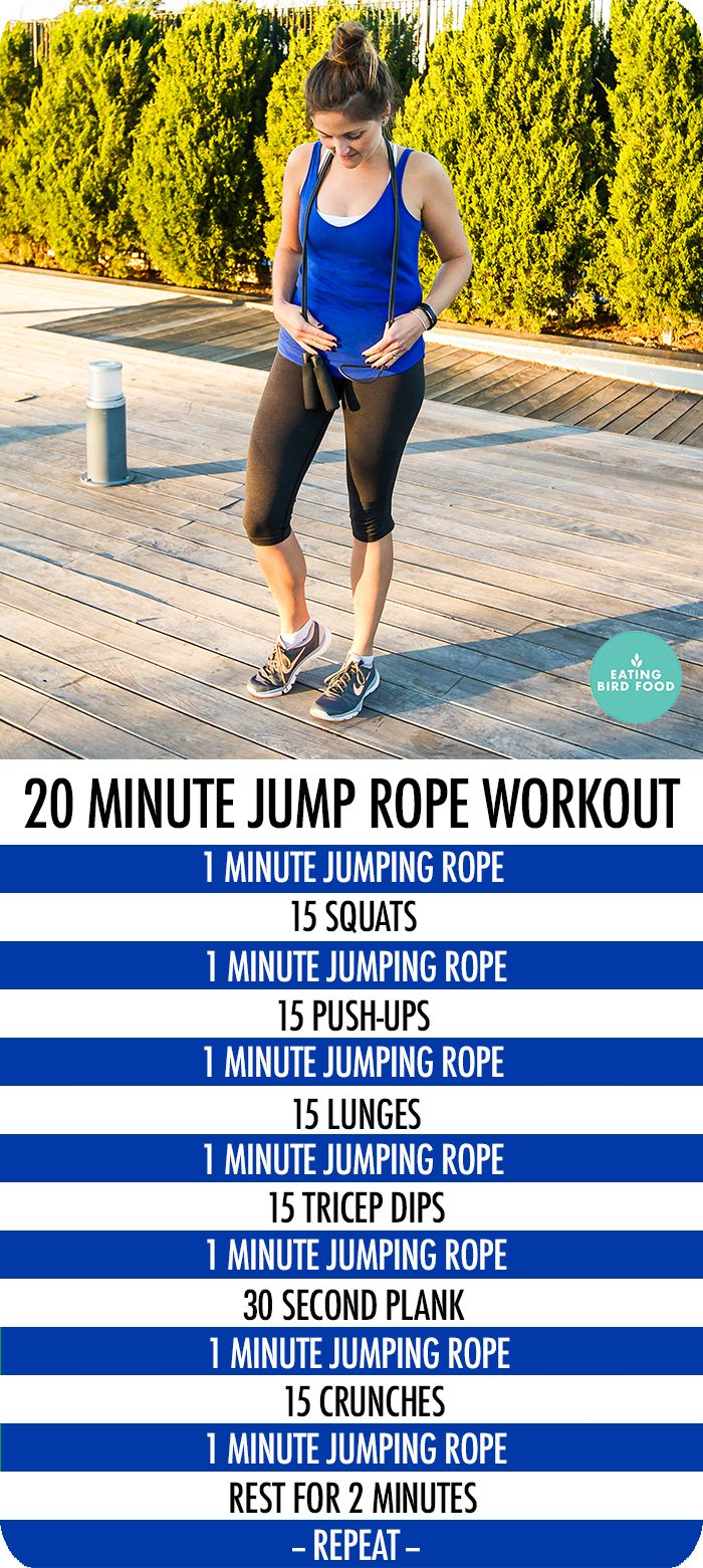 20 Minute Jump Rope Workout that combines cardio and toning | Posted by: advancedweightlosstips.com