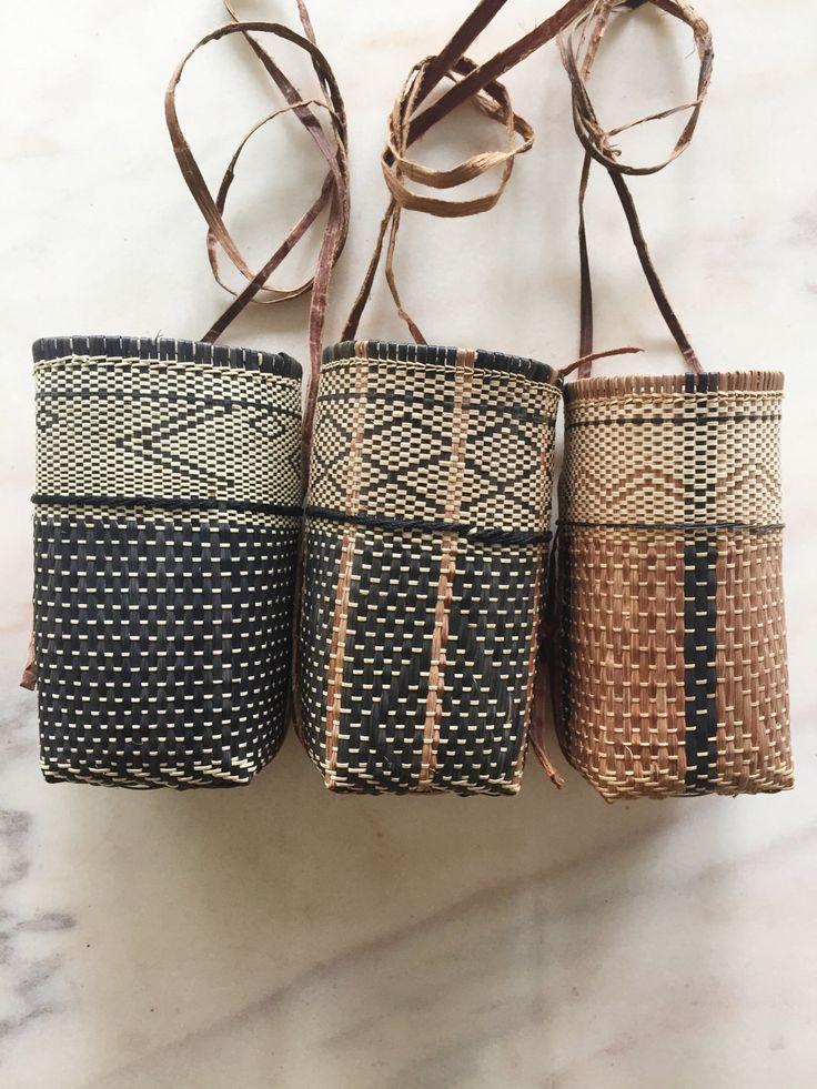 Tambok, Bidayuh Basket, Hand Weave, Rattan Bag, Over the Shoulder, Mini Bag, Organic produce by BorneoBandits on Etsy