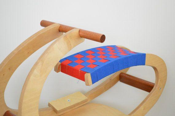 Wooden rocking horse by CraftsAndMetal on Etsy