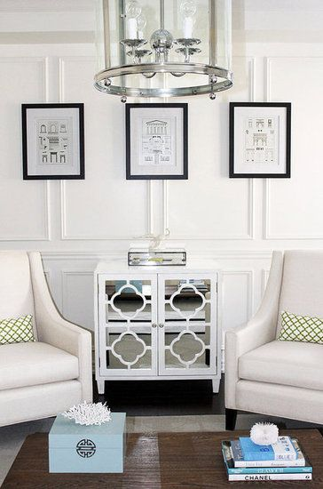 AM Dolce Vita Living Room | Full Wall Wainscoting