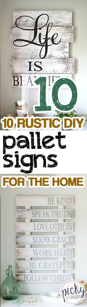 10 rustic diy pallet signs for the home