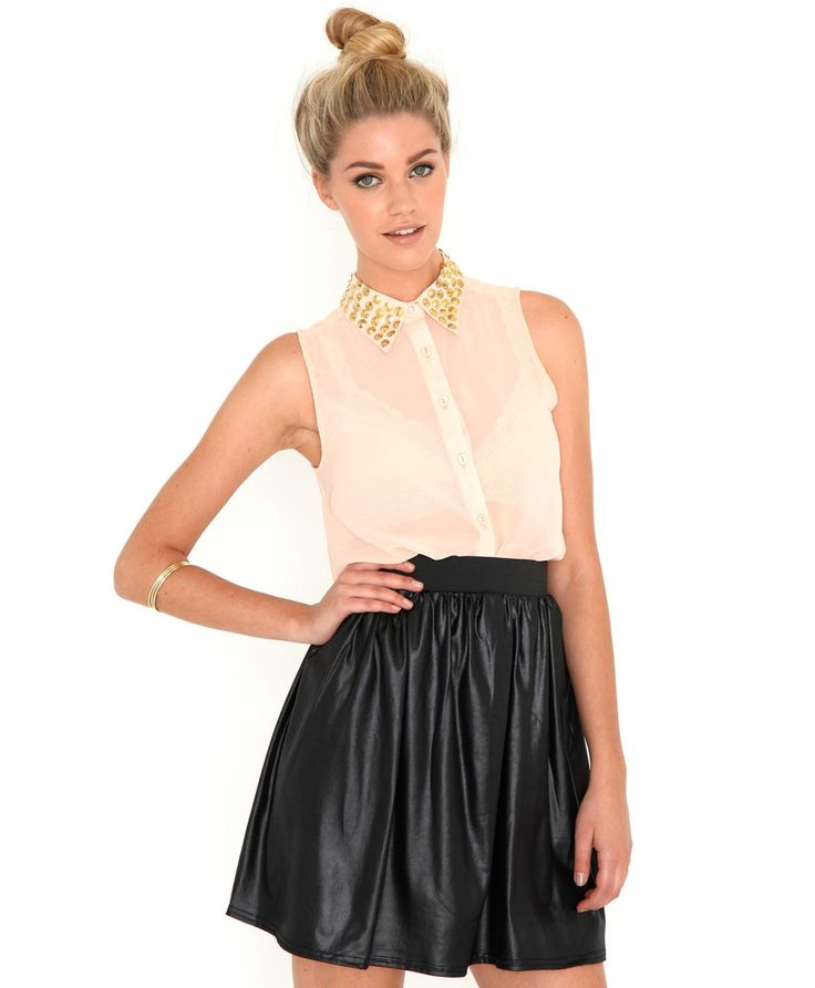 Skater skirt outfit ideas