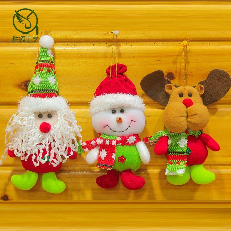 3 шт./лот Рождественские украшения подарки 17*7 СМ снеговик лось Снеговик Олень шарф цвета елки декор kid toy счастливый holidy, купить на AliExpress