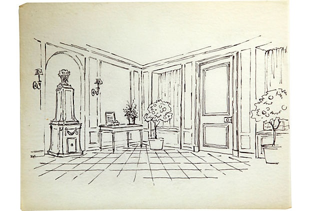 1000 images about elsie de wolfe on pinterest modern for Drawing hall interior decoration