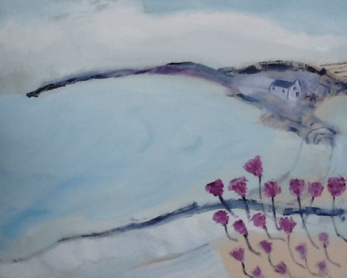 The bay - simple motifs - home- holidays, #coast , SOLD