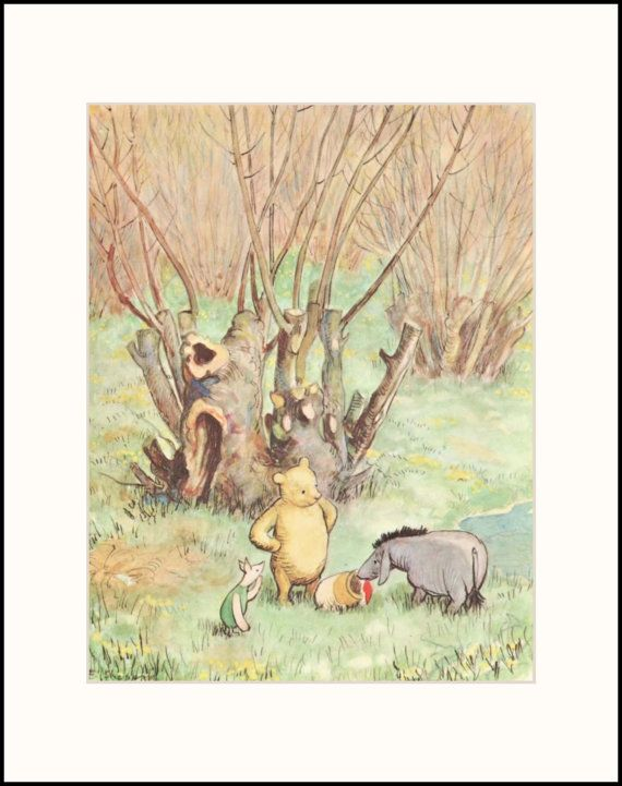 Nursery Art Decor Winnie the Pooh Art Eeyore is by CloudNinePrints, $14.00