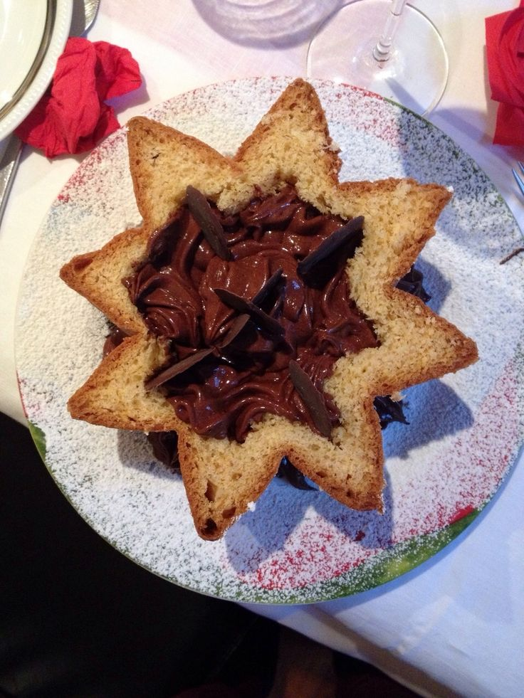 pandoro ripieno di mousse al cioccolato #pandoro #moussecioccolato #sister #cuoca