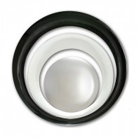 Finish - Black Lacquer/White Lacquer / Glass Type - Convex