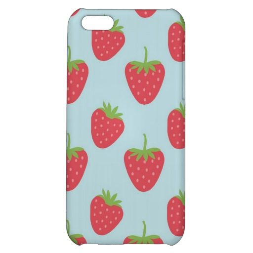 strawberries smartphone cases
