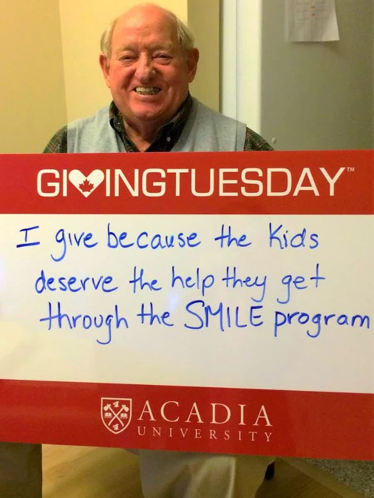 #AcadiaUGives Thanks to alumnus Alan Baker ('54) for his support of @smileacadia every day and #GivingTuesdayCa! You can donate, too! http://qoo.ly/jj23e