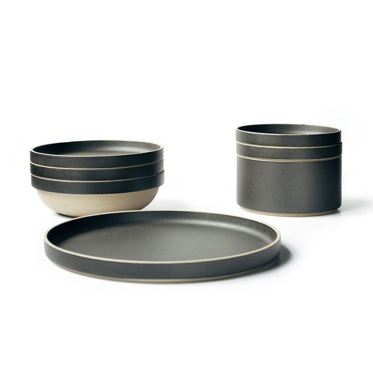 This stack-able ceramic dinnerware is made from a unique mixture of porcelain and clay. Available in plates and bowls of various diameters, the dinnerware combines traditional Japanese ceramic techniques with minimalist form. The pieces are glazed