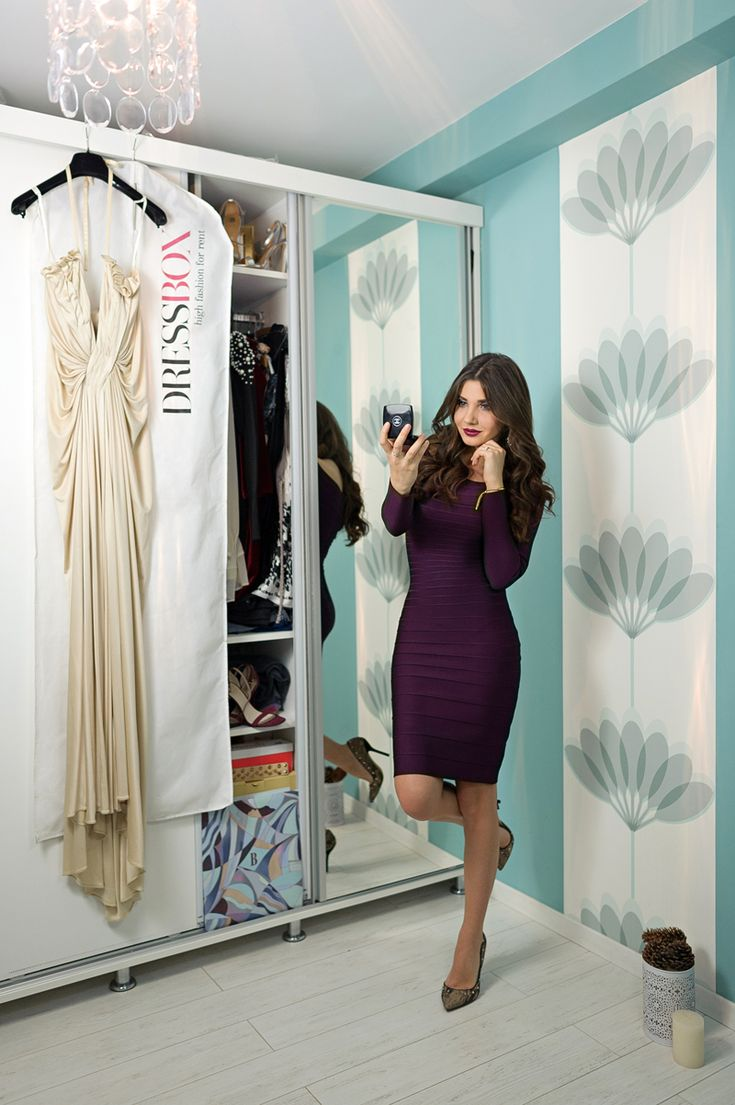 Larisa Costea a ales culoarea mov pentru o tinuta eleganta semnata Herve Leger. Daca te inspira lookul ei, poti inchiria rochia de pe site-ul nostru: htt…