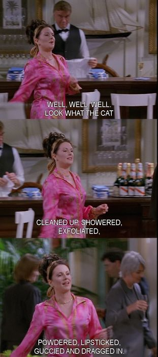 I love me some karen walker..