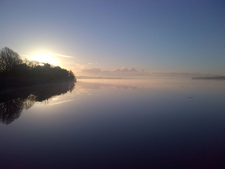 Exe estuary like a mill pond at sunrise on 19th January 2014
