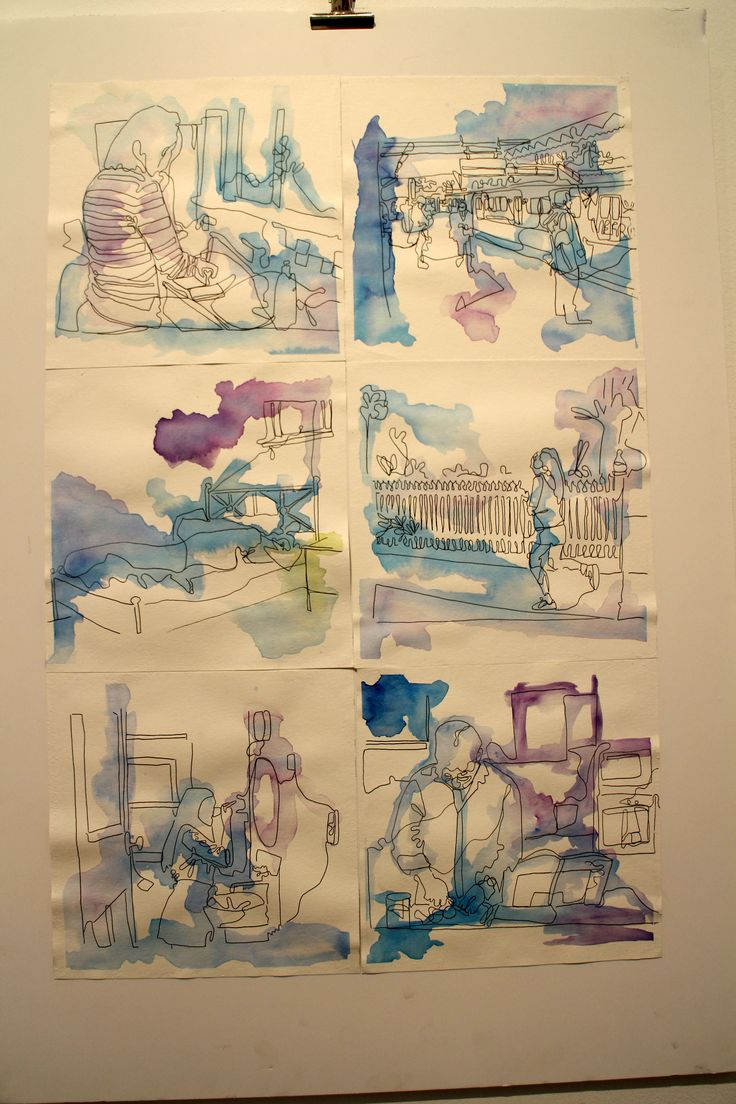2014 -- Tessa Down -- Yr.12 --  Watercolour drawings