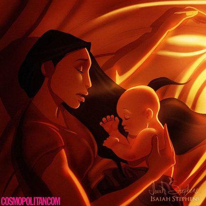 Les princesses Disney vivent leur maternité