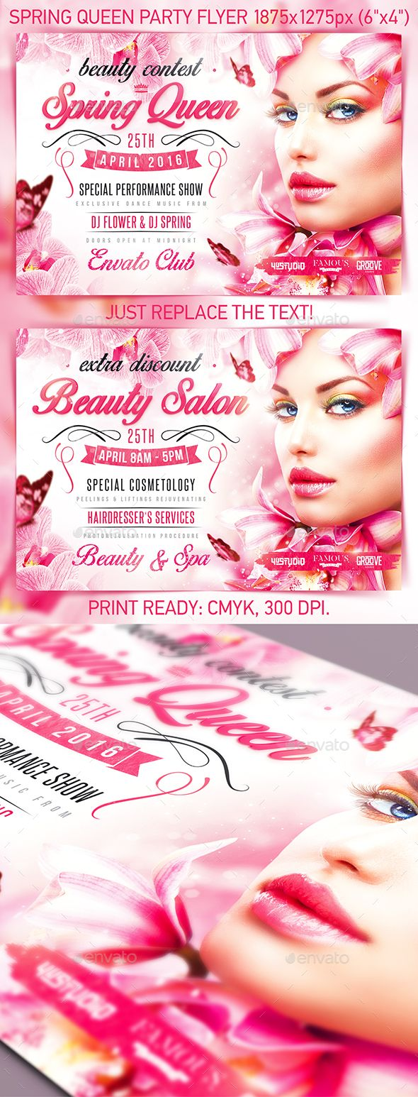 Spring Queen Party Flyer,4ustudio, beauty, beauty contest, beauty salon, fashion, flowers, girls night, glamour, hair, holiday, ladies night, love, luxury, nails, night club, orchid, party, pink, romantic, rose, sheen, spring, spring break, spring queen, summer, sunset, valentine flyer, valentine's day, vip