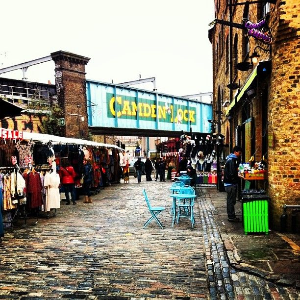 Nowhere is better for people watching than Camden. Leather, studs, platforms and kilts will be seen perusing the gothic stalls that are now mixed with up-market gift and jewellery sellers at the restored Stables Market. #London #market