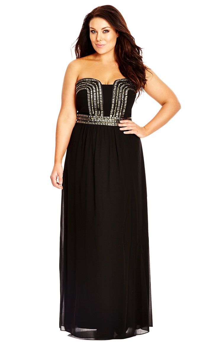 City Chic Greed Maxi Dress - Women's Plus Size Fashion - City Chic Your Leading…