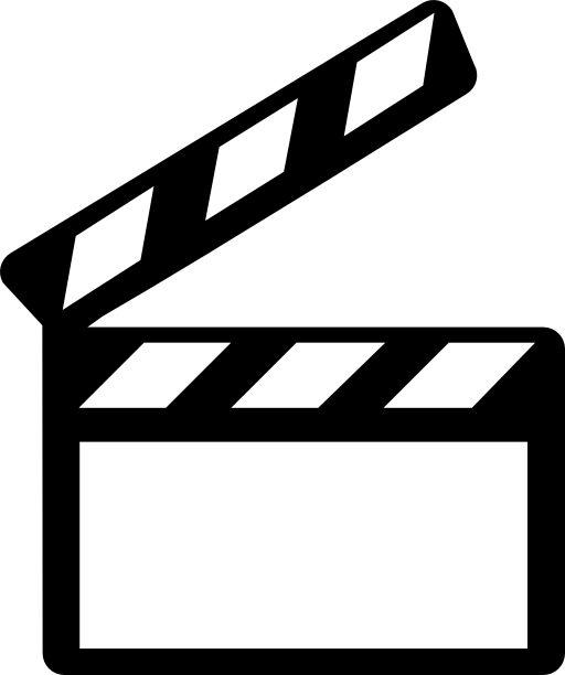Objetos para DG: vectorial, cine, película, claqueta, pizarra, toma
