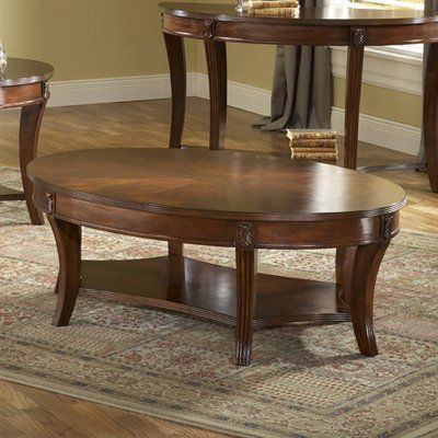 Attractive Bernards 8850 Wellington Cherry Oval Coffee Table   Home Furniture Showroom