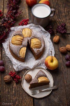 Veganer Apfelkuchen Rezept Goldener Blogger Herbst Pinterest