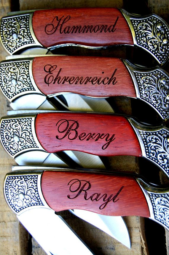 Personalized Pocket Knife - Custom Engraved Wood Handle Hunting Knife - Birthday Gift, Fathers Day Gift or Boyfriend Gift on Etsy, $21.95