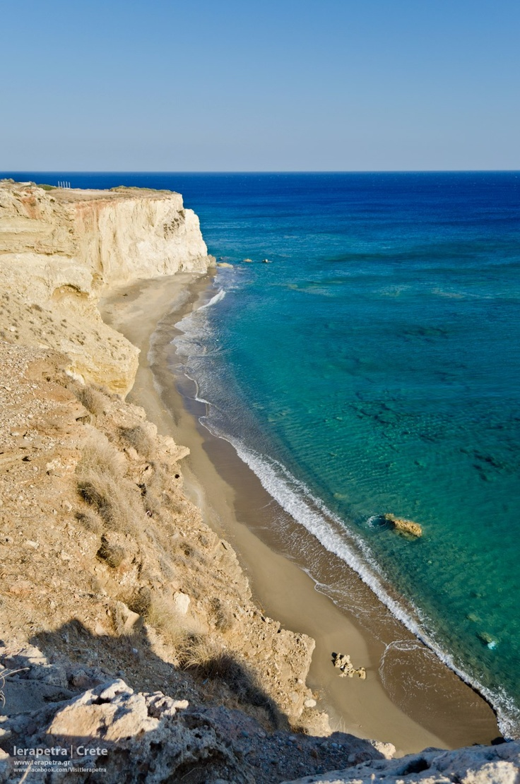 This is a gorgeous beach just below Peristaras hill in Ierapetra .