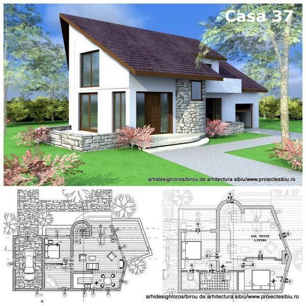proiect casa mansarda piatra