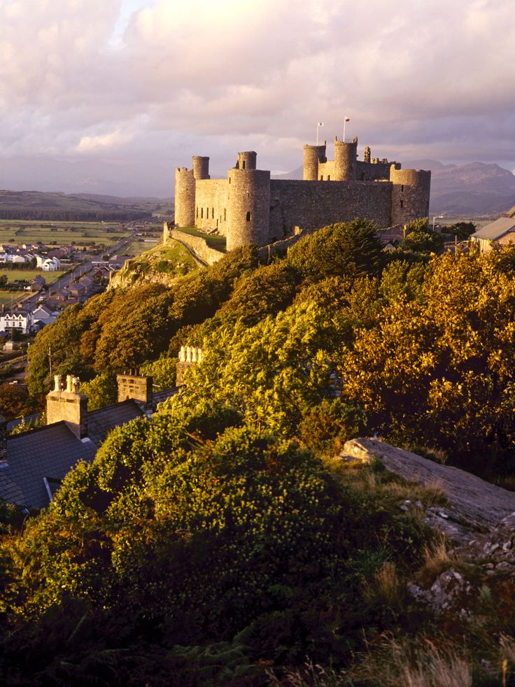 """discovergreatbritain: """"Harlech CastleDramatically overseeing the Welsh coast"""