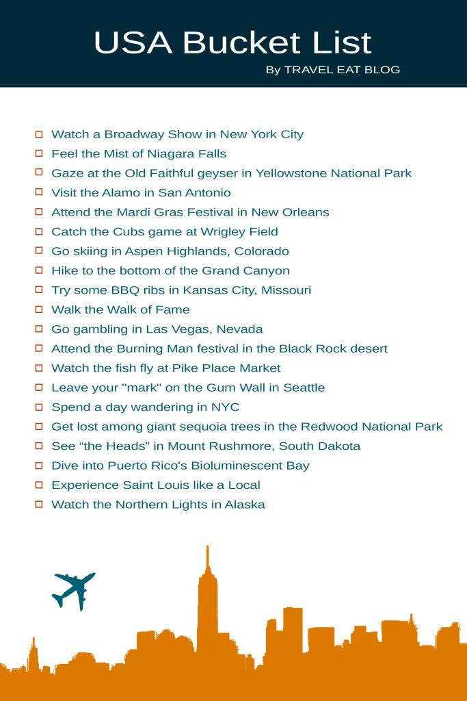 Bucket List 2020.Usa Bucket List 20 Unique Things You Can Only Do In