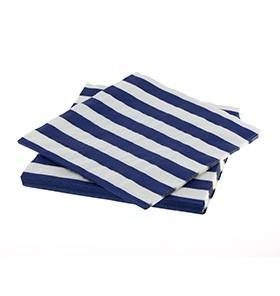 20 Sambellina Candy Stripe Blue Napkins - Included in the standard $115 and deluxe $175 packs www.strawberry-fizz.com.au