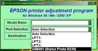 how to RESET EPSON  R230 X