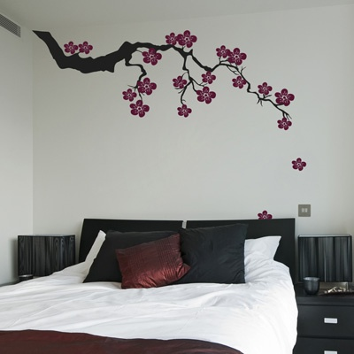 This beautiful exotic Sakura branch with falling blossoms adds elegance to any room you choose to put it in! Our wall decals are ideal for offices, living rooms, entryways, classrooms, or even your car! $85.00 www.dalidecals.com
