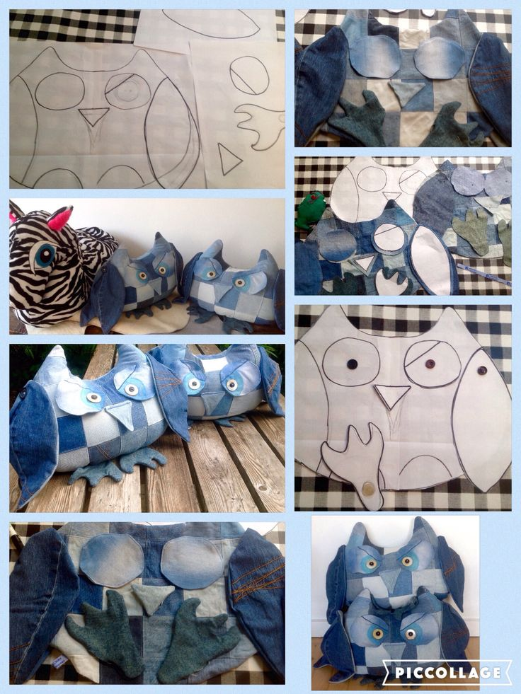 Recycle jeans owl