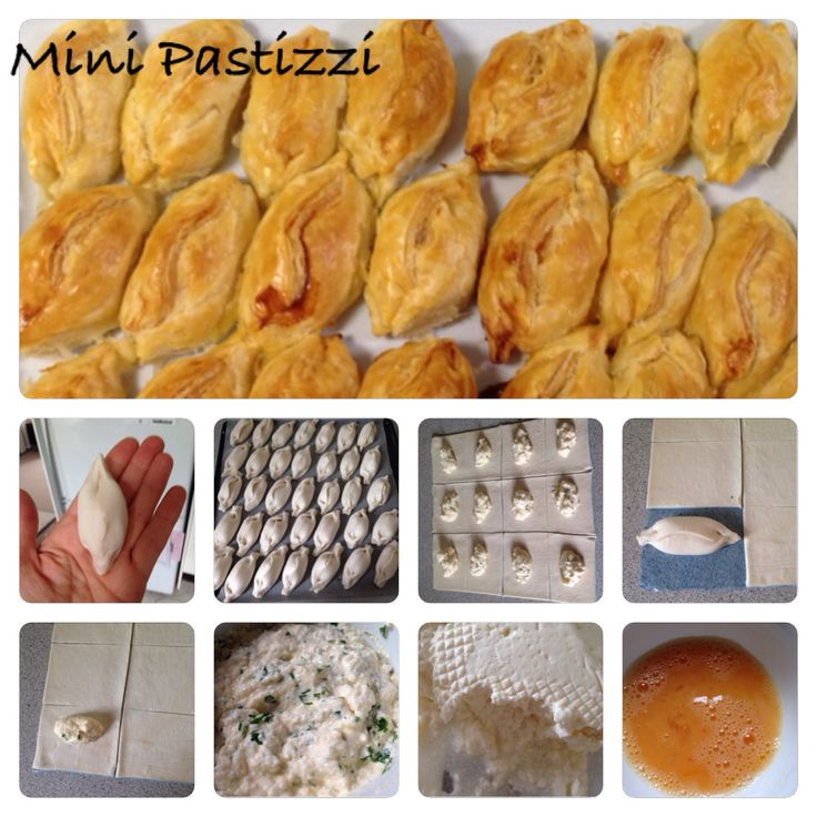 Mini bite-size Pastizzi home-made. Step-by-step picture instructions