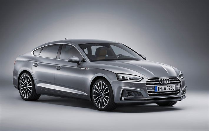 Audi A5 Sportback, 2018, new A5, silver Audi, silver A5