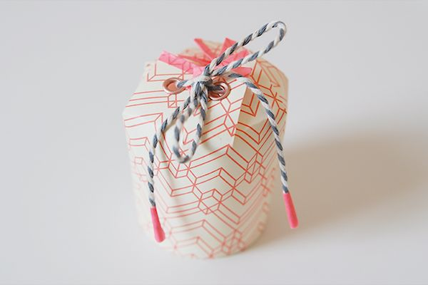 DIY: paper cup gift box