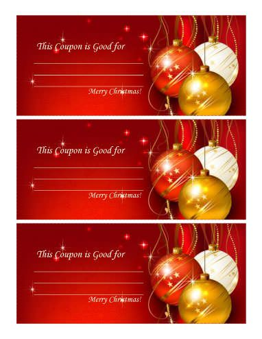 Running out of gift ideas? Download our printable Christmas Coupons Templates in MS Word to create unique and personal gift from yourself or your business.