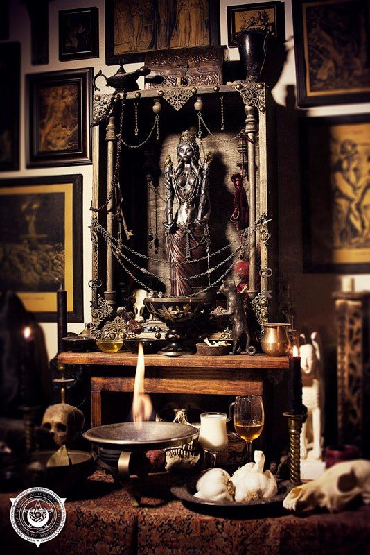 Magnificent altar for Hecate.                                                                                                                                                                                 More