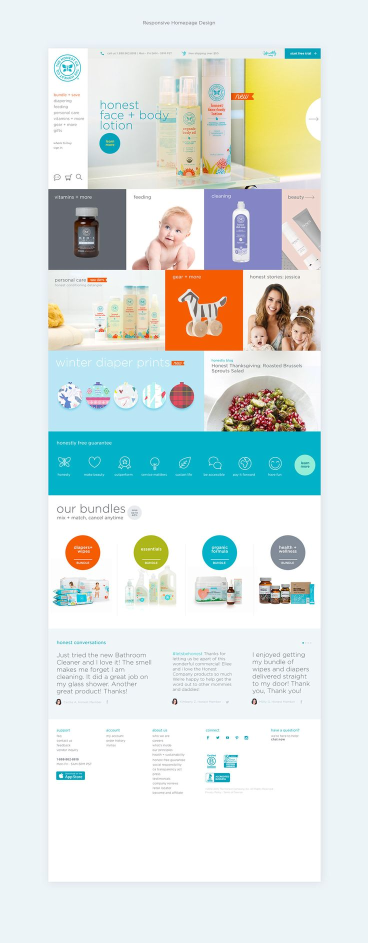 The Honest Company on Behance