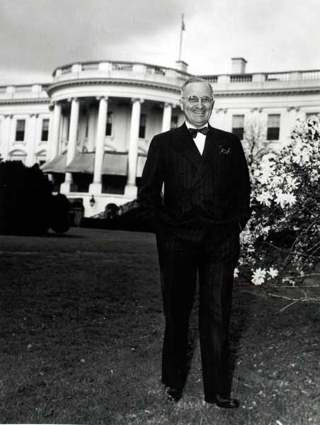 President Harry S.Truman succeeded Franklin D. Roosevelt as the nation's chief executive when Roosevelt died in 1945.